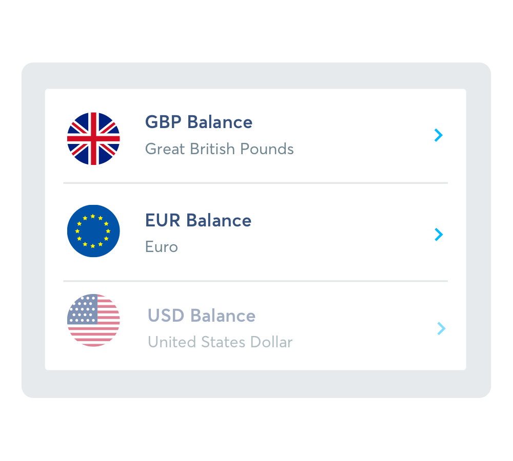 Control which currency accounts you sync.