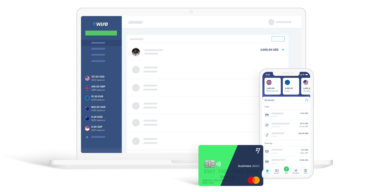 An input form and bank card