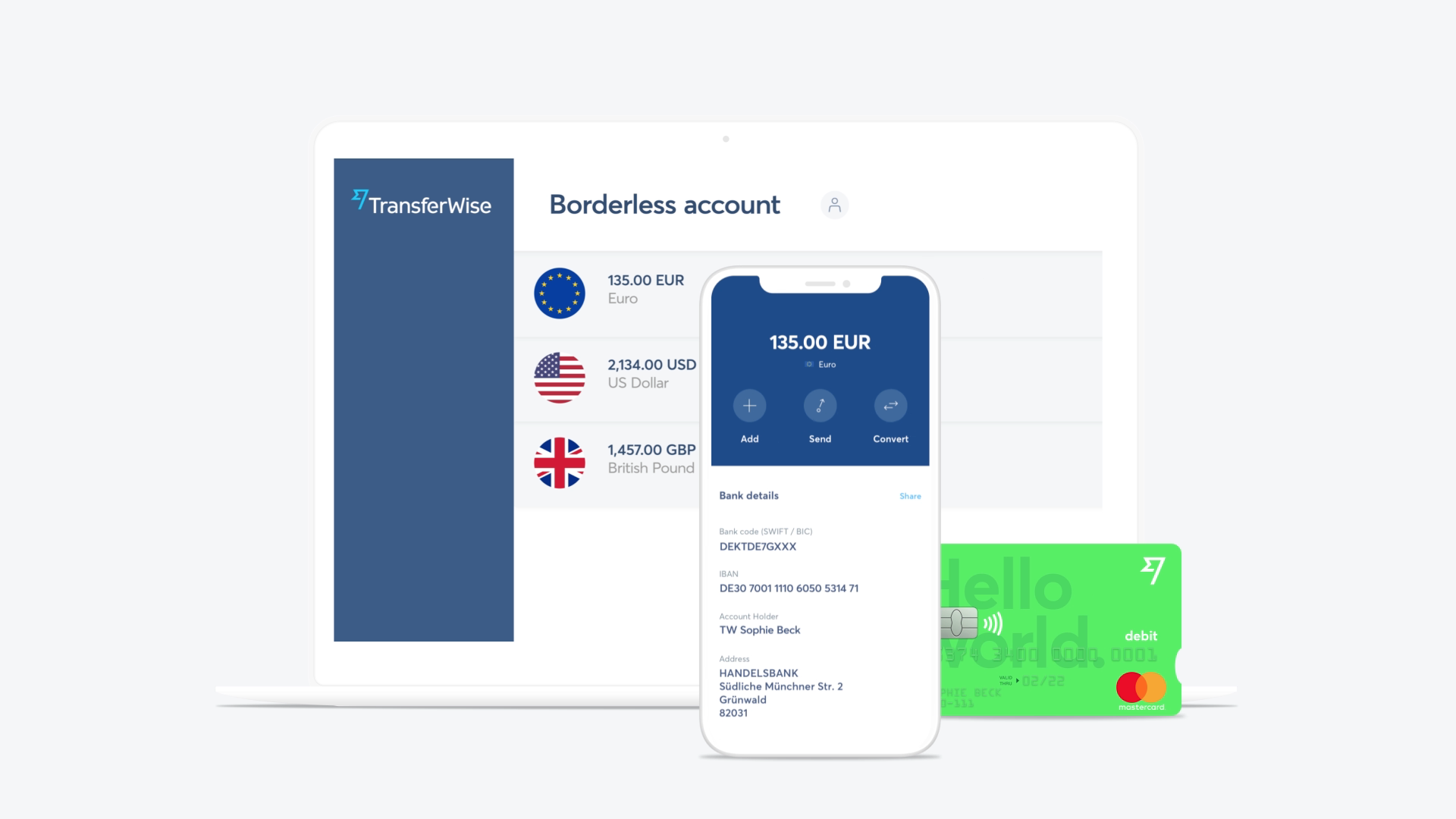 Then, a multi-currency account and debit card.