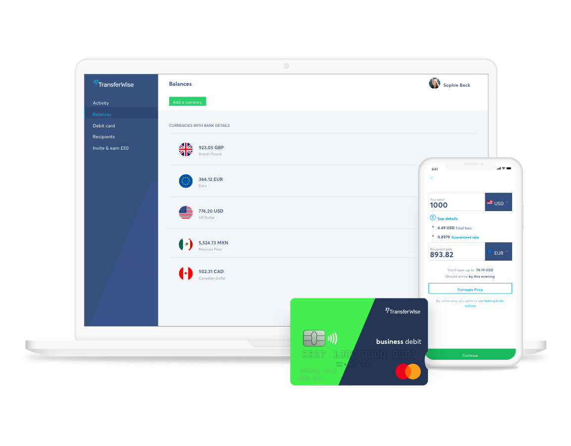 Manage your card on the go with the TransferWise app.