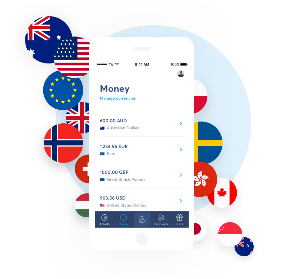 29 currencies at your fingertips.